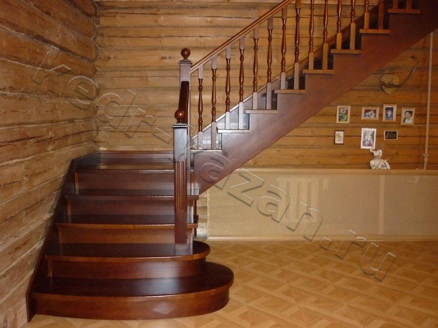 Лестница на 2 этаж в частном доТорт